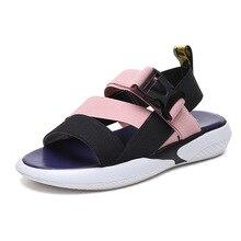 цены на Women's Summer Open Toe Slippers Sandals Casual Leisure Beach Sandals Stretch Fabric Flat Heel Sandals  в интернет-магазинах