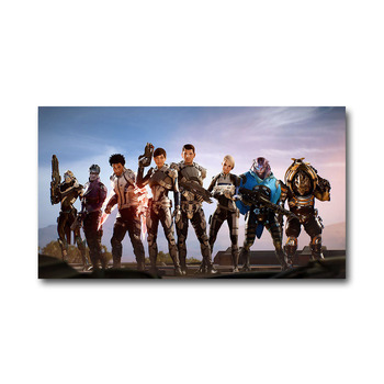 Плакат гобелен Mass Effect шелк вариант 4