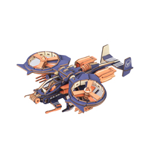 3D Wooden Puzzle Toys Laser Cutting Military Gunship DIY Jigsaw Assembly Kit Educational Interactive Wooden Toys for Kid Gifts snake 3d jigsaw woodcraft kit wooden puzzle