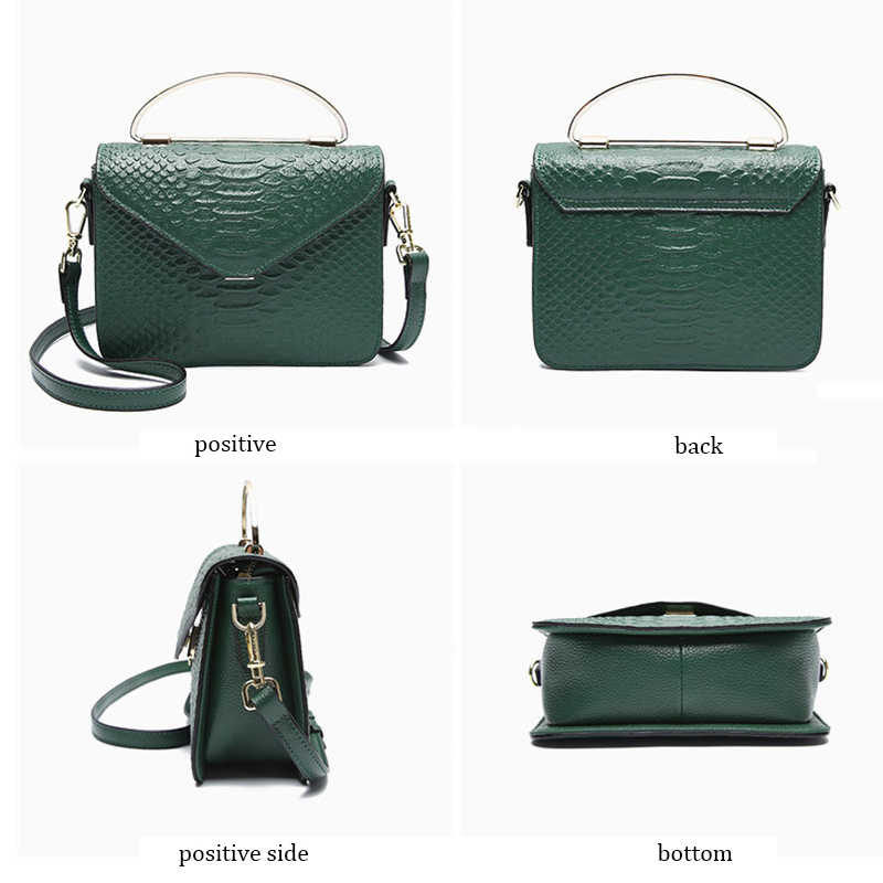5456871349 ... XMESSUN Snake Bag Genuine Leather Handbag Luxury Handbags Women Bags  Designer Crocodile Texture Shoulder Crossbody Dropship ...