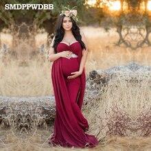 628651b1078 Maternity Dresses For Photo Shooting V-Neck Red Dress Maternity Photography  Props Sleeveless Pregnancy Dress Maternity Grown