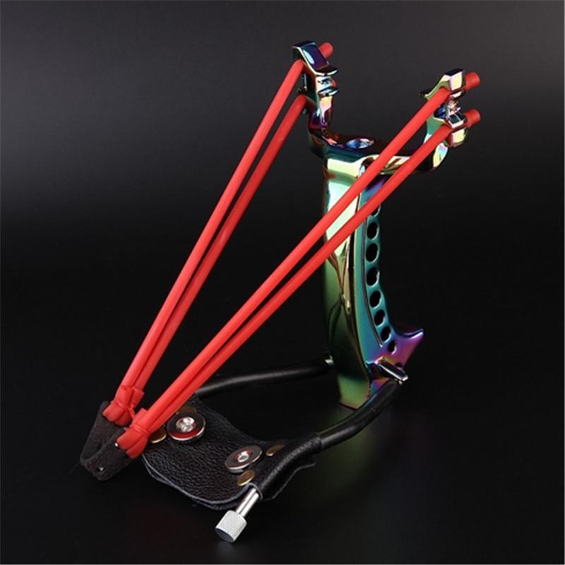 Hot Offers Hunting Mini ballesta Slingshot exterior acero POTENTE PROFESIONAL catapulta Sling tiro con arco HW-012