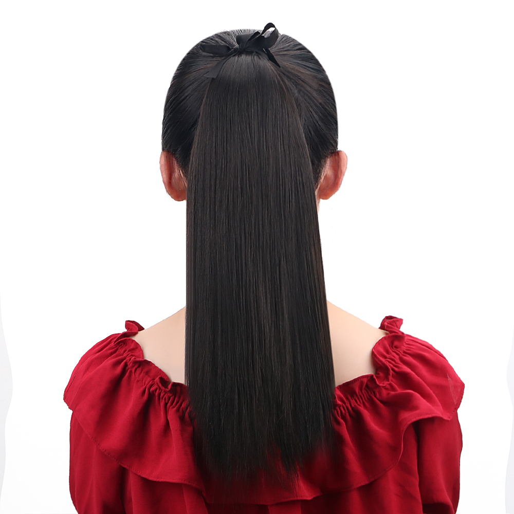 Hair Extensions & Wigs Hearty Full Shine Ponytail Natural Hair Extensions Clip In Ponytails 100g 100% Remy Human Hair Ponytail For White Women Straight Hair Fine Quality
