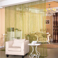 FLC, 2.9x2.9m Shiny Tassel Flash Silver Line String Curtain Window Door Divider Sheer Curtains Valance Home Decoration 40