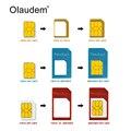 4 en 1 Nano Tarjeta Sim Adaptadores + Micro Sim Sim Card + Stander tarjeta sim adaptador expulsa el pin para el iphone 4 4s 5 5s 6 6 s sadt838