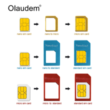 Sim Card Adapters 4 in 1 Nano Micro Standard Sim Card Adapter + Eject Pin For iPhone 4 4S 5 5S 6 6S 6 Plus 7 7S Plus SADT838(China)