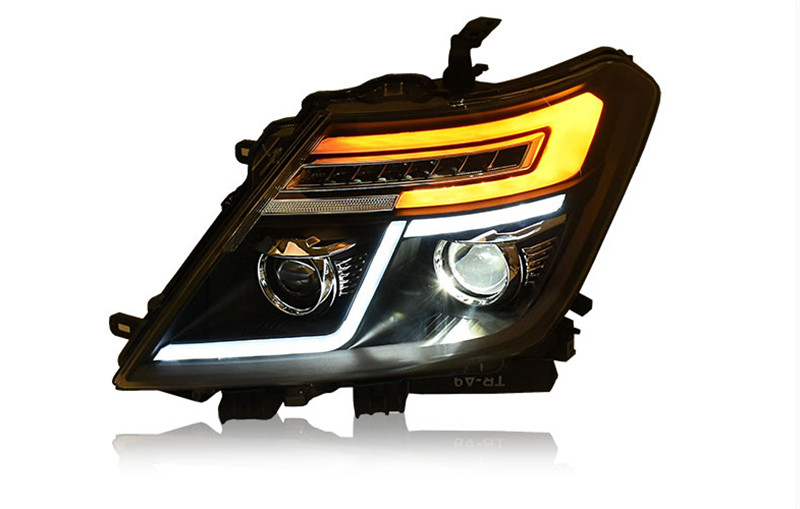 Free shipping for car Head lamp for Nissan Patrol LED headlight 2008 2012 2016 DRL H7 Xenon lamp free shipping for vland factory for car head lamp for audi for a3 led headlight 2008 2009 2010 2011 2012 year h7 xenon lens