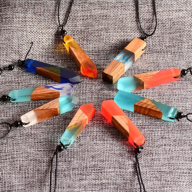 2017 fashion creative female handmade pendants necklaces retro 2017 fashion creative female handmade pendants necklaces retro resin wood necklace women boutique jewelry christmas audiocablefo
