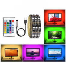 5V USB RGB LED Strip Light 5050 SMD 16 Colors Changeable TV Background Lighting Not-Waterproof 1M 2M 3M 4M 5M DIY Flexible tape(China)