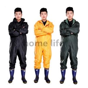 Image 2 - ファッションオートバイレインコート防水 · 耐油/防塵/シャムレインコート/オーバーオール核分裂レインスーツレインコート