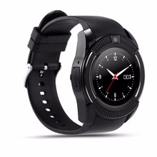 Sports Round Smart Watch V8 Full Screen Support TF SIM Card Bluetooth Smartwatch For Android Quad-band multi-langual PK dz09 u8
