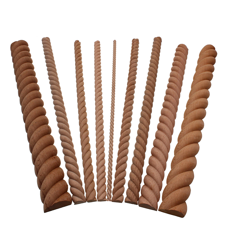 VZLX Wooden Carved Wood Twist Lines Style Decorative Indoor Door Semi Home Decor Decoration Accessories Figurines Miniatures DIY