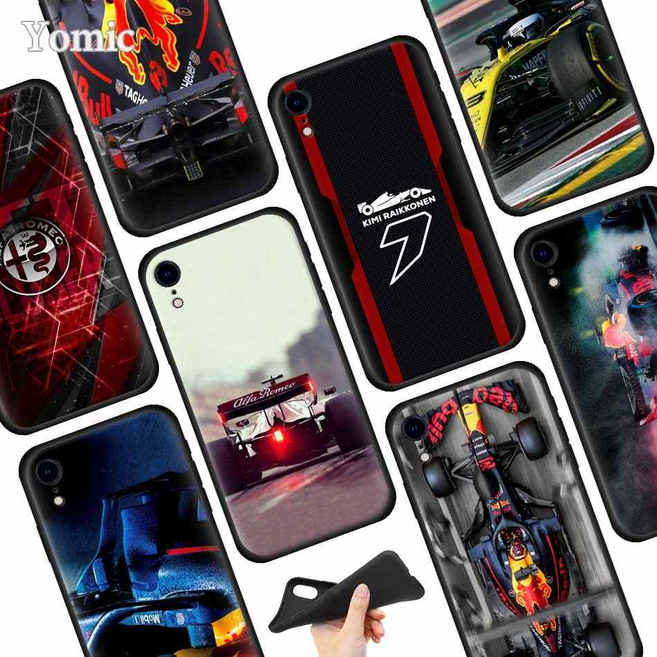 for Formula 1 Black Soft Case for Apple iPhone XR 7 8 6 6S Plus X XS MAX 5 5E 5S Silicone Phone Case Cover