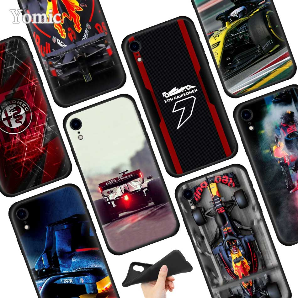 for Formula 1 Soft TPU Case for Apple iPhone 11 Pro XR 7 8 6 6S
