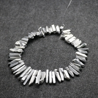 15.5inch/strand Big Crystal Pillar Finished Silver Color Crystal Point Pendant Wholesale Mystic Titanium Necklace Craft Supplier