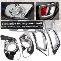 4pcs Fog light Bumper Trims Set Kit Chrome Front+ Rear Lamp Bumper Durable