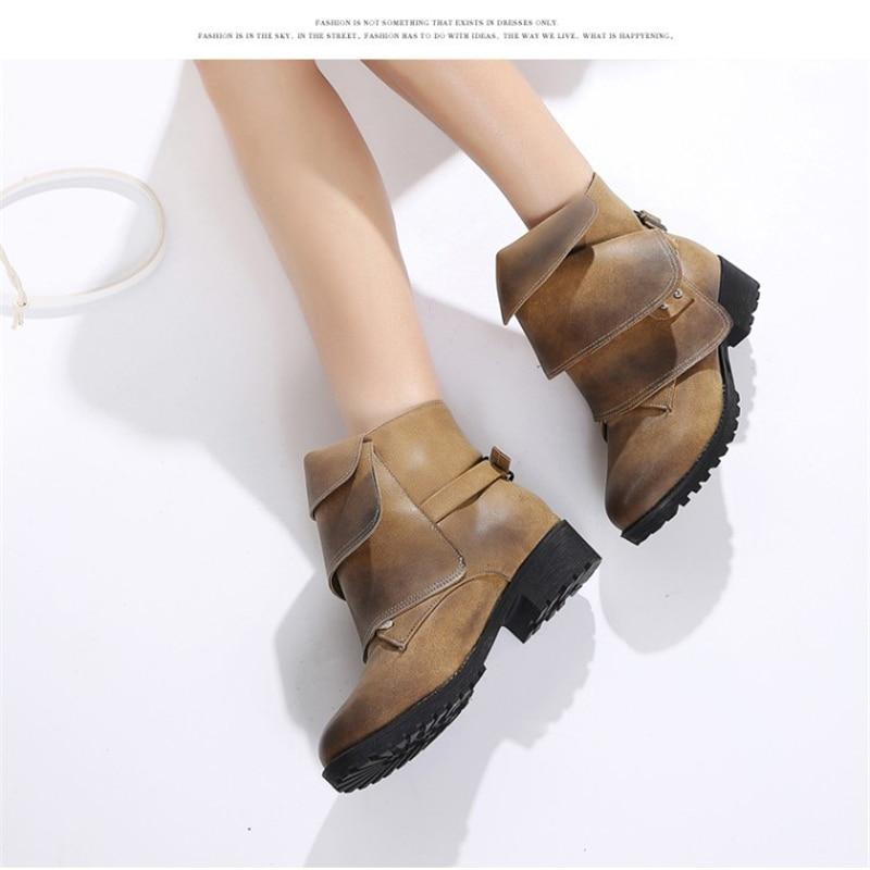 ... Più Formato Black Heel Nero Stivali Caviglia Red Delle Invernali Khaki Scarpe  Moda Tacchi Donne 5cm ... 03982a4aeb8