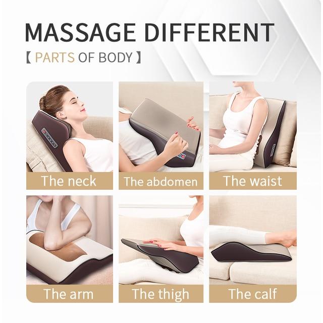 Multi-functional Kneading Cervical Vibration Massager Neck Shoulder Waist Full-body Car Home Duel-use Gift Large Massager Pillow 2