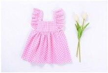 Summer Baby Girls Sleeveless Plaid Cute Princess Party Tutu Dress Kids Infant Birthday Sundress vestido infantil