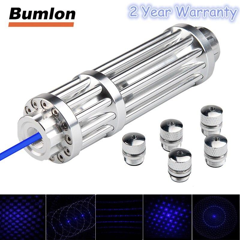 Militär Leistungsstarke Laserpointer Blau Hochleistungs Brennen Laser USB Wiederaufladbare Errichtet in der Batterie 450 mw Laserpen Box HT3-0025