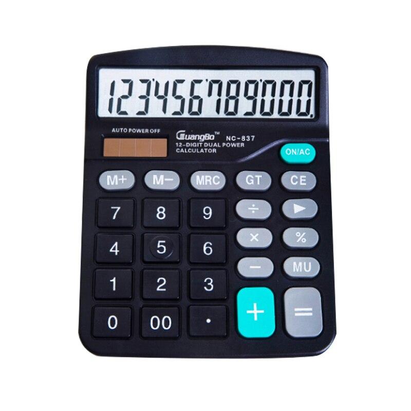 2016 Large Buttons Dual Power Solar Battery Powered Desktop Desk Digit font b Calculator b font