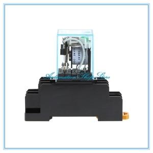 Image 4 - 10 יחידות MY2P MY2NJ HH52P 12 V 24 V DC/110 V 220 V AC סליל DPDT מטרת מיקרו מיני כללי ממסר עם שקע בסיס