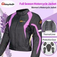 Damska kurtka motocyklowa płaszcz zimowa pani odzież jeździecka cały sezon wodoodporny wiatroszczelny kombinezon odblaskowy kombinezon ochronny JK 64