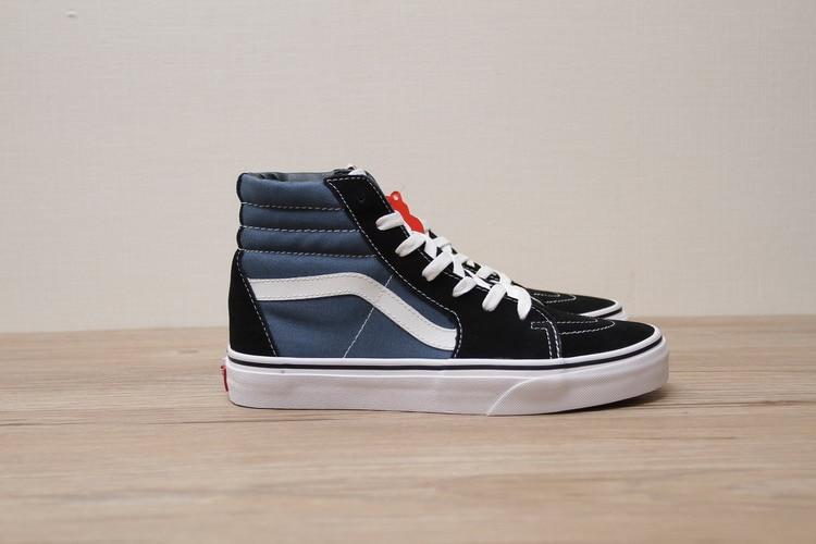 c178aefa55b Free Shipping Vans SK8 Hi Navy Blue Women s canvas shoes