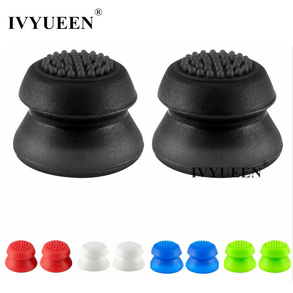 лучшая цена IVYUEEN 2 pcs Silicone Extra High Joystick Extended Analog Thumb Stick Grips for PS4 Pro Slim Controller Cover for Dualshock 4
