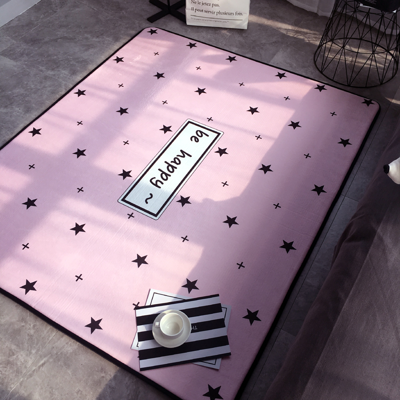 Fashion Modern Lovely Sweet Pink Stars Happy Living Room Bedroom Parlor Decorative Carpet Area Rug Baby Play Mat Home DecorationFashion Modern Lovely Sweet Pink Stars Happy Living Room Bedroom Parlor Decorative Carpet Area Rug Baby Play Mat Home Decoration