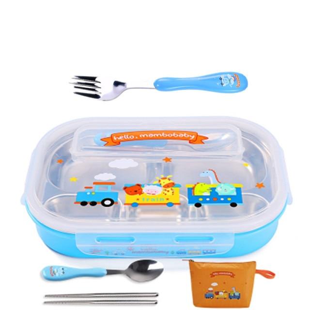 Blue fork and bag Cheap bento boxes 5c6479e2eddf7