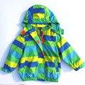 Дети верхняя одежда теплое пальто спортивный детская одежда двухэтажных водонепроницаемый ветрозащитный мальчиков девушки куртки для 2 - 10 т