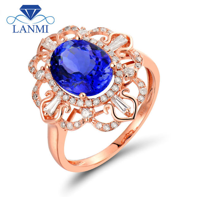 tanzanite ring oval diamond