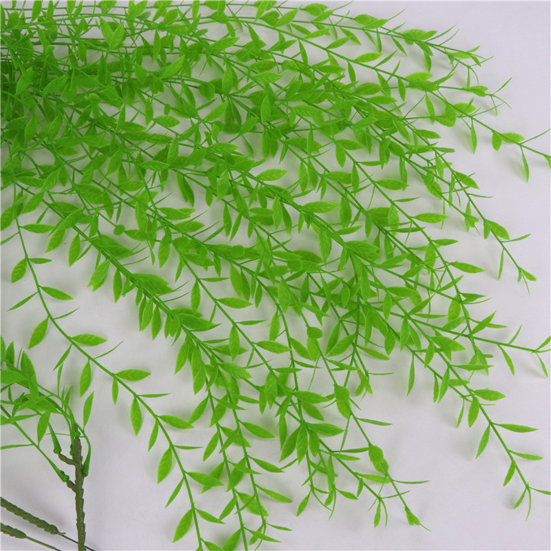 Artificial Decorations Intelligent 40m Simulation Leaves Green Vine Wreath Decorative Party Wedding Cloth Leafy Vines Leaves Home Garden Arts Crafts Sewing