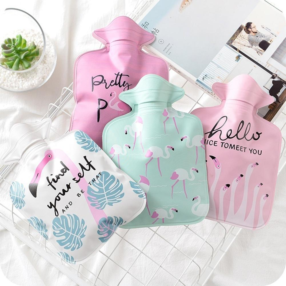 Hot Flamingo Letter Pattern Hot Water Bag Winter Warm Relaxing Heat Therapy Pouch