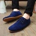 Venta caliente Del Otoño Del Resorte de Moda Para Hombre de Los Zapatos Planos Ocasionales Zapatos de Gamuza Cómodo Transpirable Planas de Apriete Mocasines Más El Tamaño