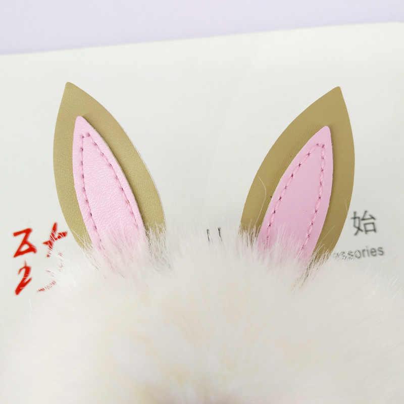 Chaveiro Bola De Pele de coelho Chaveiro Pokemon Macio para Sacos de Mulheres Pingente Poms Pom Decoração Chaveiro Moda Crianças Presentes de Páscoa