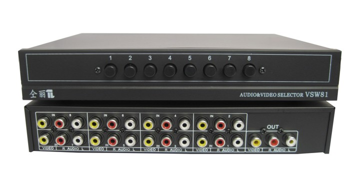 Computer-peripheriegeräte Kvm-switches Energisch 8 Port Video Audio Schalter Av Rca Selector 8-in-1-out Sharing Manuelle Switcher Box