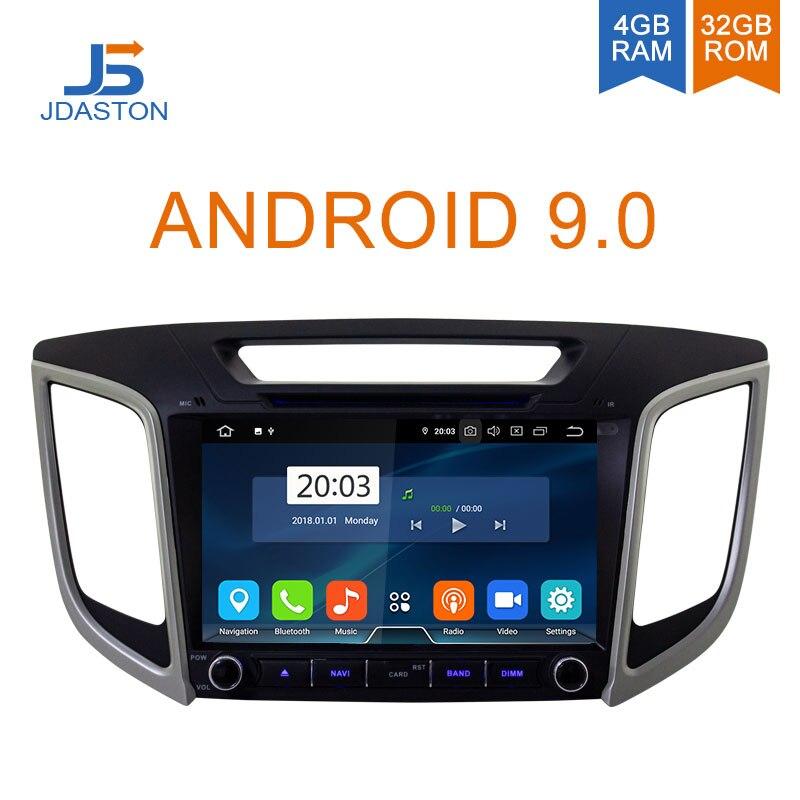 Lecteur multimédia de voiture JDASTON Android 9.0 pour Hyundai Creta ix25 4G + 32G Navigation GPS stéréo 2 Din autoradio DVD Audio Auto DSP