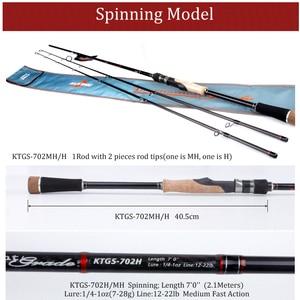 Image 2 - KUYING 2.1Mการแข่งขันคู่เคล็ดลับMH H Hard Casting Spinning Lure Fishing Rodคาร์บอนไฟเบอร์Cane Pole Stick Medium fast 7 28G