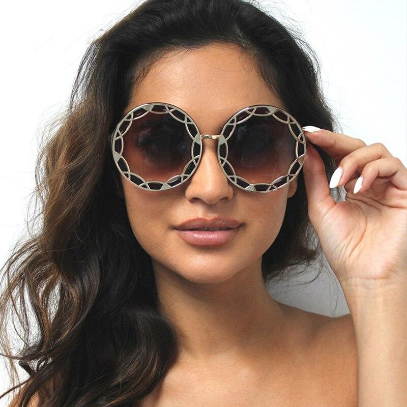 2017 GUVIVI Rodada Do Vintage Óculos De Sol Das Mulheres Marca Designer  Eyewear UV400 Óculos de Sol Retro Oculos de sol Feminino Gafas GY-5844 8eb3812e89
