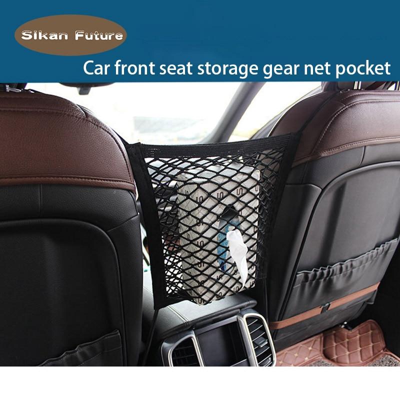 Voorzichtig Universele Universele Auto Storage Netwerk Auto Zak Bagage Haken Organizer Seat Bladerdeeg Stretch Nylon Net Mesh Zak Met Plastic Haken De Mondholte Schoonmaken.