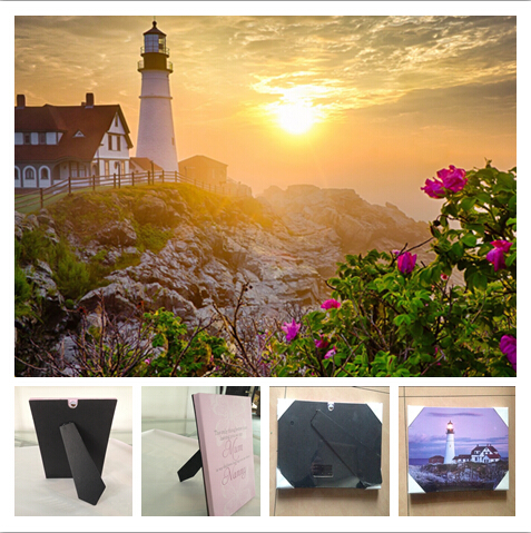 1 Led Stand On Table Plaque, Hang Wall Art Canvas Print Light Up,lighthouse