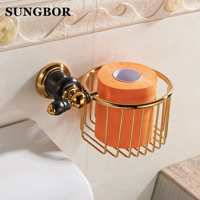 European Paper Towel Basket Golden Toilet Paper Basket Bathroom Golden  Copper Tissue Boxes Porcelain Bathroom Hand