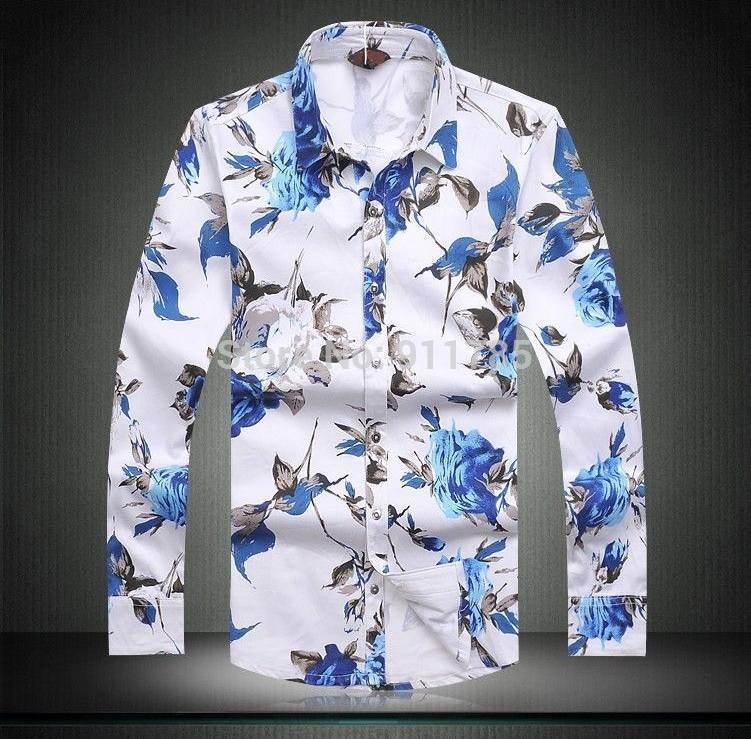 2017 nowa wiosna kwiatowy drukowane bez prasowania koszule  6dAHD