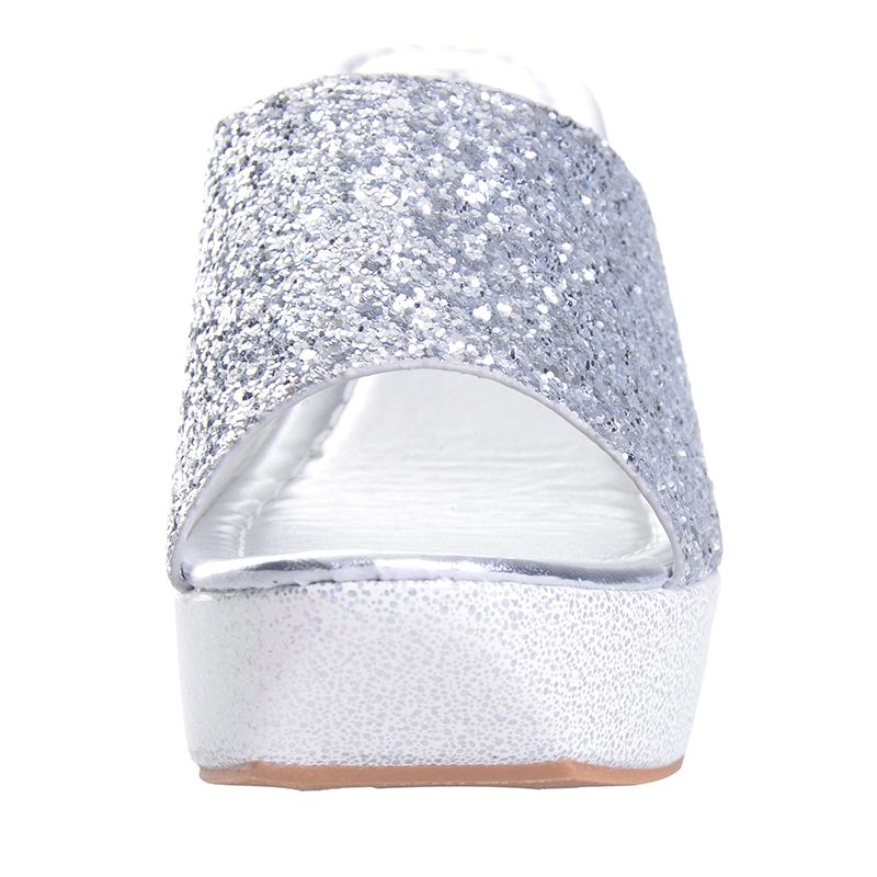 366291c71af02c HEE GRAND Women Slippers Bling Bling Glitter Platform Wedge Slides 2017  Thick Bottom Casual Women Shoes XWT513-in Slippers from Shoes on  Aliexpress.com ...