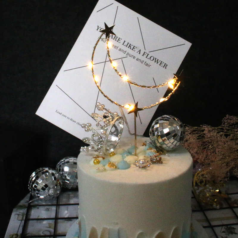 Phenomenal New Metal Silver Gold Love Crown Moon With Diamond Happy Birthday Personalised Birthday Cards Cominlily Jamesorg