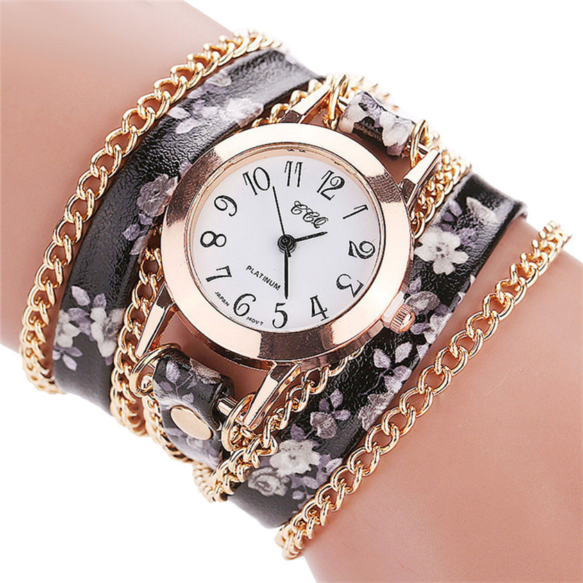 reloj mujer 2017 Relogio Feminino Women Fashion Casual Analog Quartz Women Watch Bracelet Watch June15A