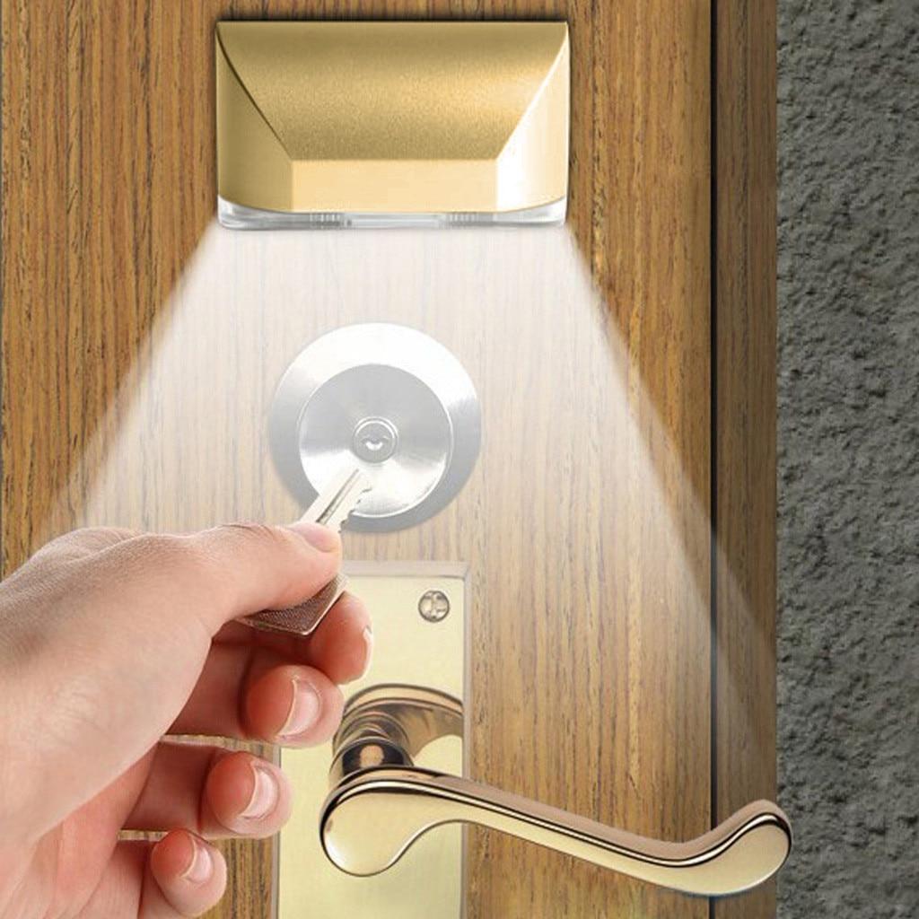 LED Intelligent serrure de porte armoire clé Induction petite veilleuse capteur lampe lune lampe avec 4 LED lampara de luna