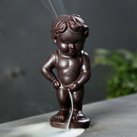 Backflow Incense Burners Home Decor Ceramic Boy Waterfall Decorative Incense Holder Aroma Censer Incense Cones Holder Z275